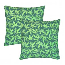-cannabis-hemp-420-marijuana-pattern-philipp-rietz (1) Decorative Throw Pillow Covers Square Pillowcases Cushion Covers for Couch Sofa Bedroom Set of 2 , can be used in holiday home