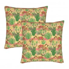 Camel Cacti And Palm Tree Decorative Throw Pillow Covers Square Pillowcases Cushion Covers for Couch Sofa Bedroom Set of 2 , can be used in any room-bedroom