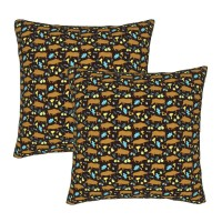 Cute Boars Wild Pigs Decorative Throw Pillow Covers Square Pillowcases Cushion Covers for Couch Sofa Bedroom Set of 2 , can be used in holiday home
