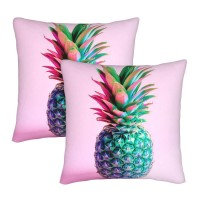 Cute Lovely Pineapple Pink Stockings Long Tube Socks, Great Quality Classics Knee High Socks Sports Socks For Women Teens Girls Decorative Throw Pillow Covers Square Pillowcases Cushion Covers for Couch Sofa Bedroom Set of 2 , can be used in holiday home