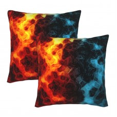 Abstract Colorful Art Decorative Throw Pillow Covers Square Pillowcases Cushion Covers for Couch Sofa Bedroom Set of 2 , can be used in any room-bedroom