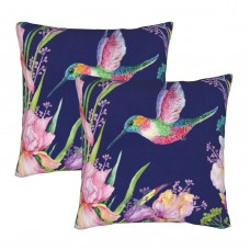 Flower Bird Decorative Throw Pillow Covers Square Pillowcases Cushion Covers for Couch Sofa Bedroom Set of 2 , can be used in guest room